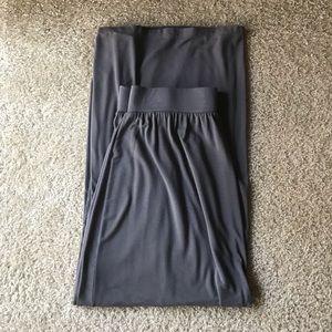 Loft : Dark Gray Maxi skirt size M